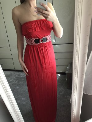 Langes rotes Kleid, Gr. S, NEU