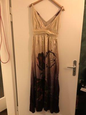 Langes Satin Kleid