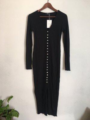Bershka Robe à manches longues noir