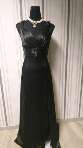 Langes schwarzes Kleid (B418) Abendkleid Größe 40/42