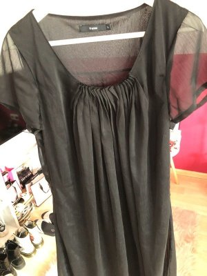 Langes schwarzes Kleid in L