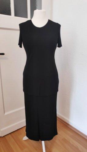 Langes schwarzes Kleid Maxikleid kurzärmelig Größe 36