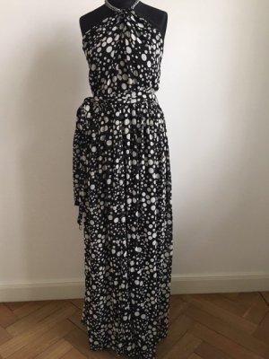 Mango Maxi-jurk zwart-wit Polyester