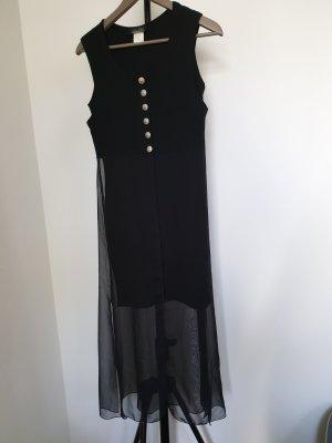 Langes schwarzes zweiteiliges Kleid