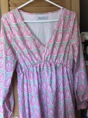 Misslook Empire Dress light grey-pink silk