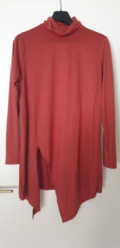 Amisu Camisa de cuello de tortuga coñac-carmín