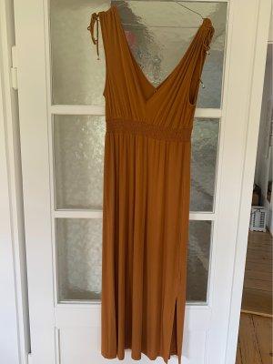 Promod Letnia sukienka cognac-rudy