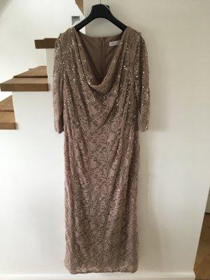 Young Couture by Barbara Schwarzer Abito in pizzo beige-marrone-grigio