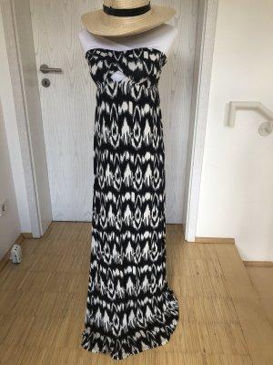 Calzedonia Cut Out Dress black-white