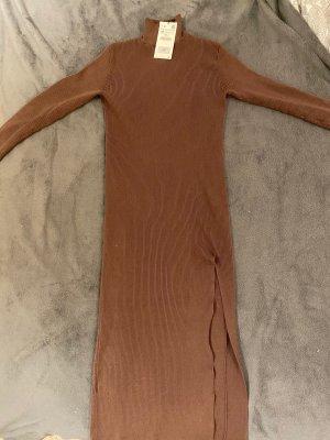 Zara Vestido cut out marrón