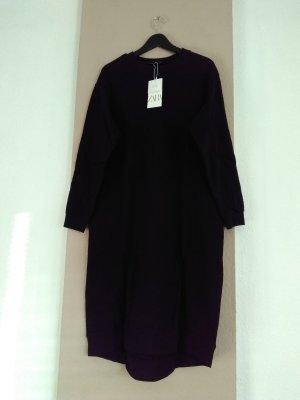 Zara Sukienka o kroju koszulki czarny Bawełna