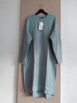 Zara Abito felpa verde-grigio Cotone