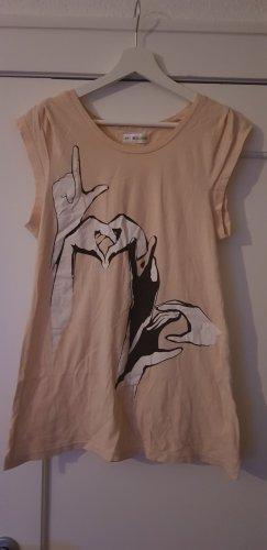 24 colours Print Shirt nude-apricot