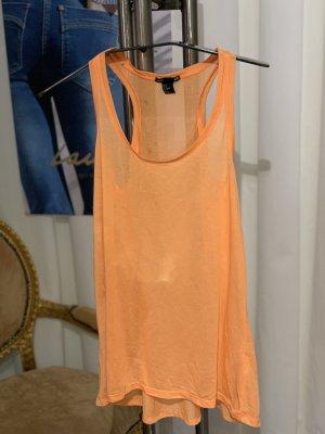 H&M Długi top pomarańczowy