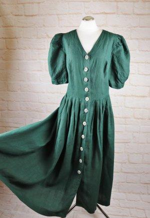 Berwin & Wolff Maxi Dress forest green linen