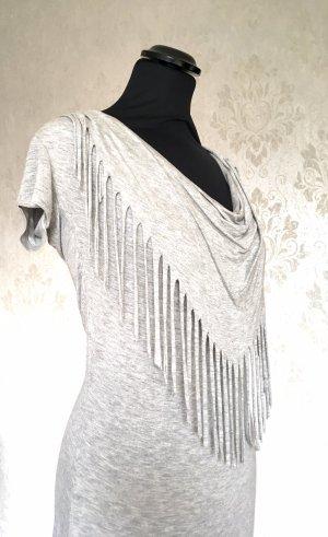 Cowl-Neck Top light grey