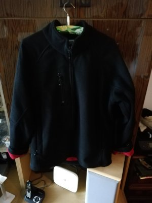 Fleece Jackets black-brick red polyester