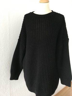 Missguided Coarse Knitted Sweater black synthetic