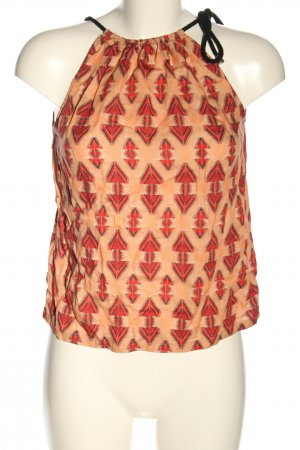 Lanius Camisola nude-rojo estampado con diseño abstracto look casual