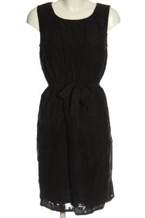 Lanius Robe empire noir motif de fleur style décontracté