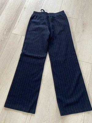 Lanius Marlene Trousers dark blue-brown wool