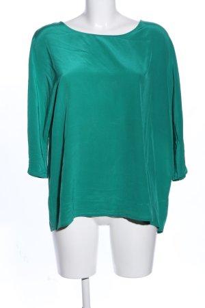 Lanius Kurzarm-Bluse grün Business-Look
