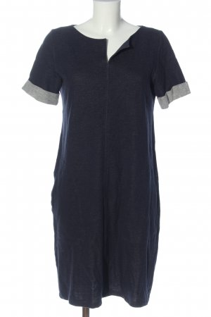 Lanius Shortsleeve Dress blue-light grey flecked casual look