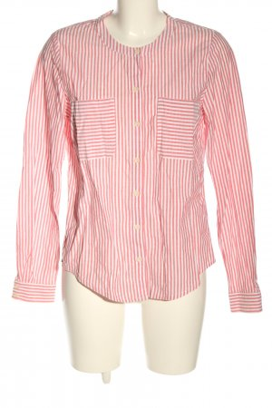 Lanius Long Sleeve Blouse white-red striped pattern casual look