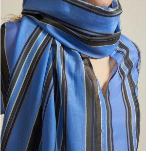 Lanius Summer Dress neon blue-black cotton