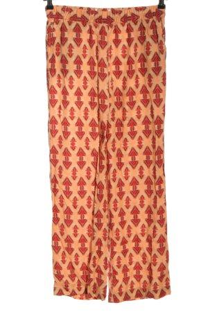 Lanius Jersey Pants light orange allover print casual look