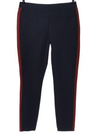 Lanius Stretchhose schwarz-rot Streifenmuster Casual-Look