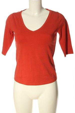 Lanius V-Neck Shirt light orange casual look