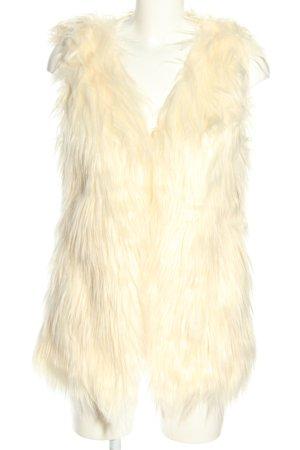 Lanshifei Chaleco de piel sintética crema look casual