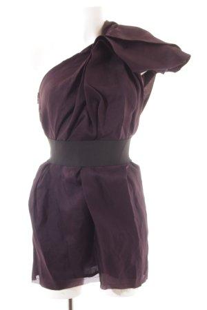 Lanvin for H&M One-Shoulder-Kleid schwarz-dunkelviolett Elegant
