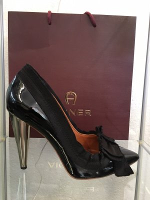 Lanvin for H&M High Heels black-silver-colored leather