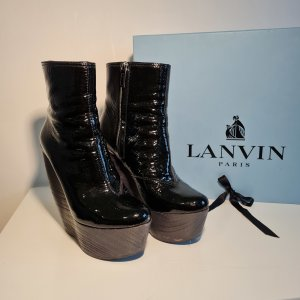 LANVIN High Heel Wedges Patent-Leather