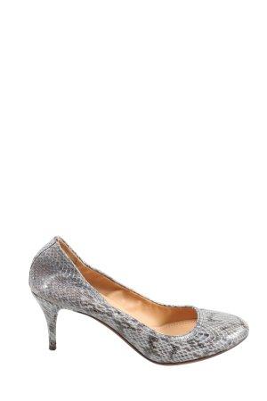 Lanvin High Heels hellgrau-braun Animalmuster Elegant