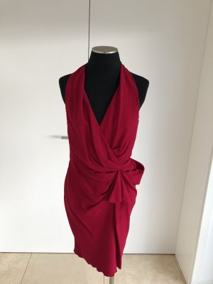 Lanvin Midi Dress raspberry-red