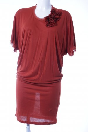 Lanvin Shortsleeve Dress bright red elegant
