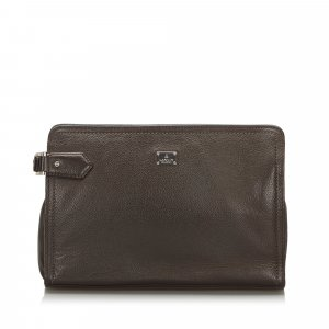 Lanvin Borsa clutch marrone scuro Pelle