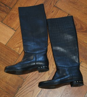 Lanvin Botte d'équitation noir cuir