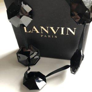 LANVIN Luxus Band Halskette Schwarz