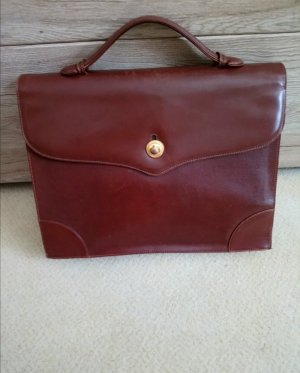 Lanvin Briefcase cognac-coloured leather