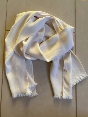 Lanvin Silk Scarf natural white-cream