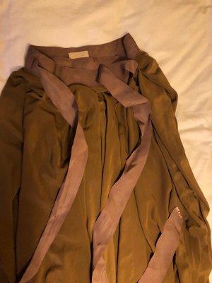 Lanvin Falda cruzada color bronce-color rosa dorado