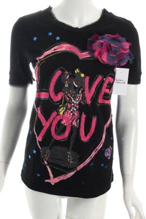 Lanvin T-Shirt Motivdruck Street-Fashion-Look