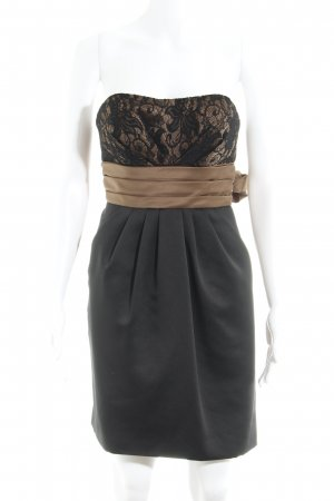 Laona Abendkleid schwarz-hellbraun Elegant