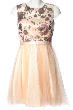 Laona Vestido de baile crema-rojo estampado floral elegante