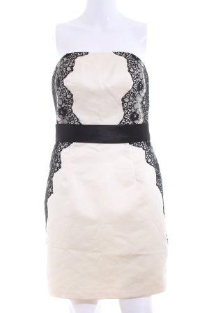 Laona Bandeaukleid schwarz-wollweiß Elegant