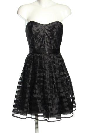 Laona Abendkleid schwarz Glanz-Optik